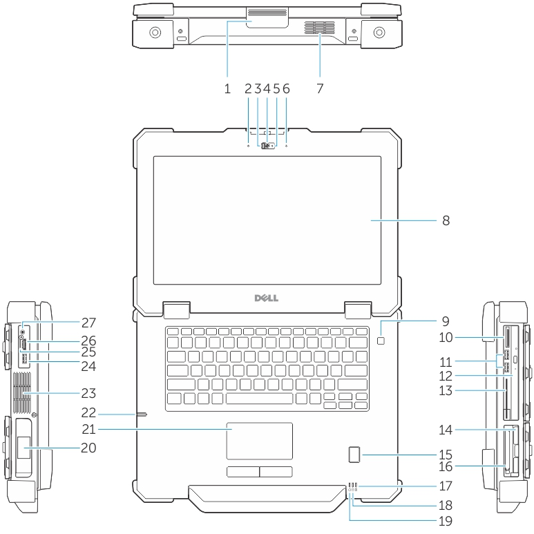 Dell Latitude 14 Rugged Extreme 7414 Getting Started Guide