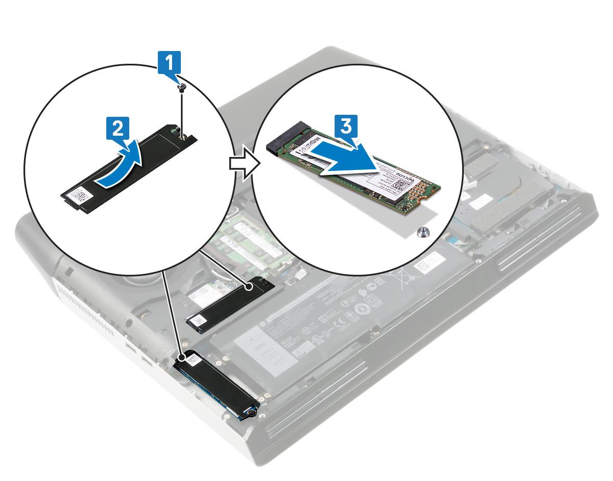 圖:卸下固態硬碟散熱護罩