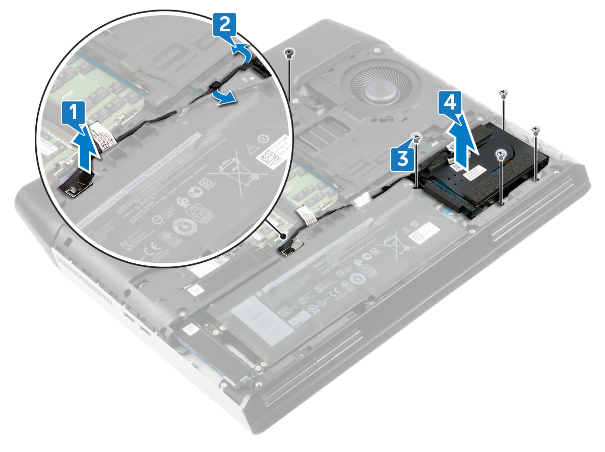 Image: Removing the hard-drive assembly