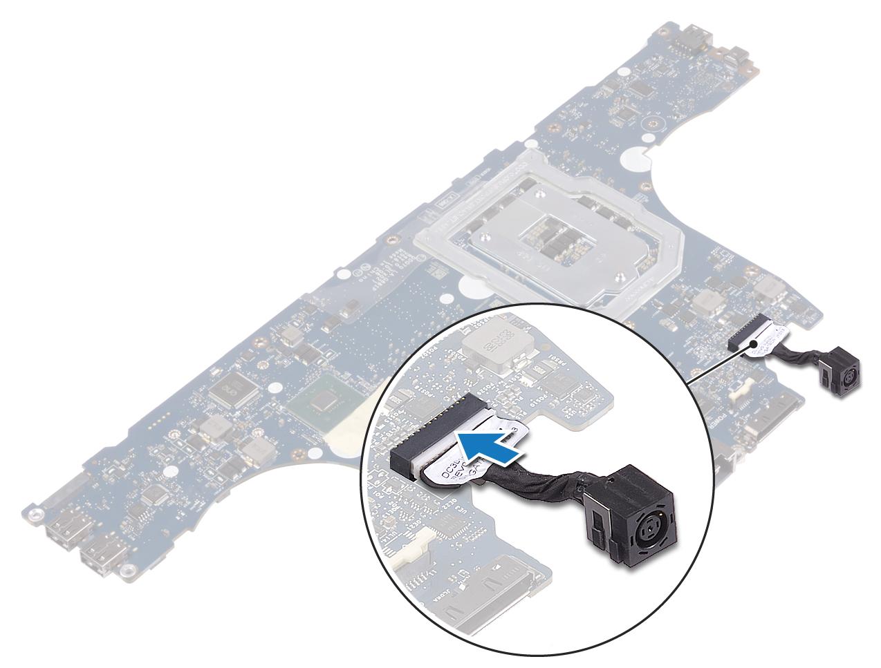 圖:裝回右側電源變壓器連接埠