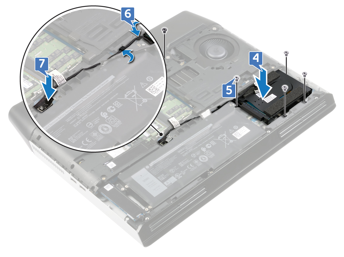 Image: Replacing the hard-drive assembly