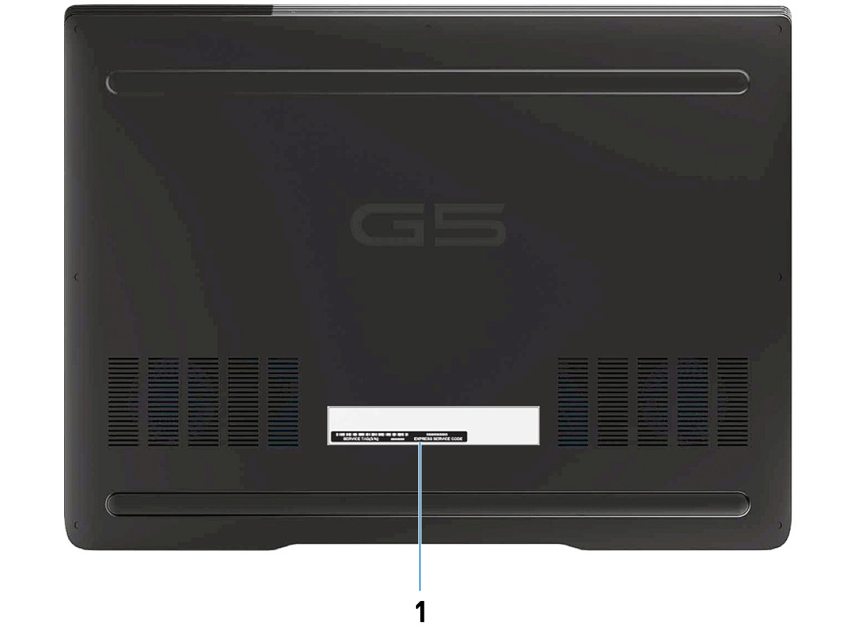 Image: Bottom view of Dell G5 5590