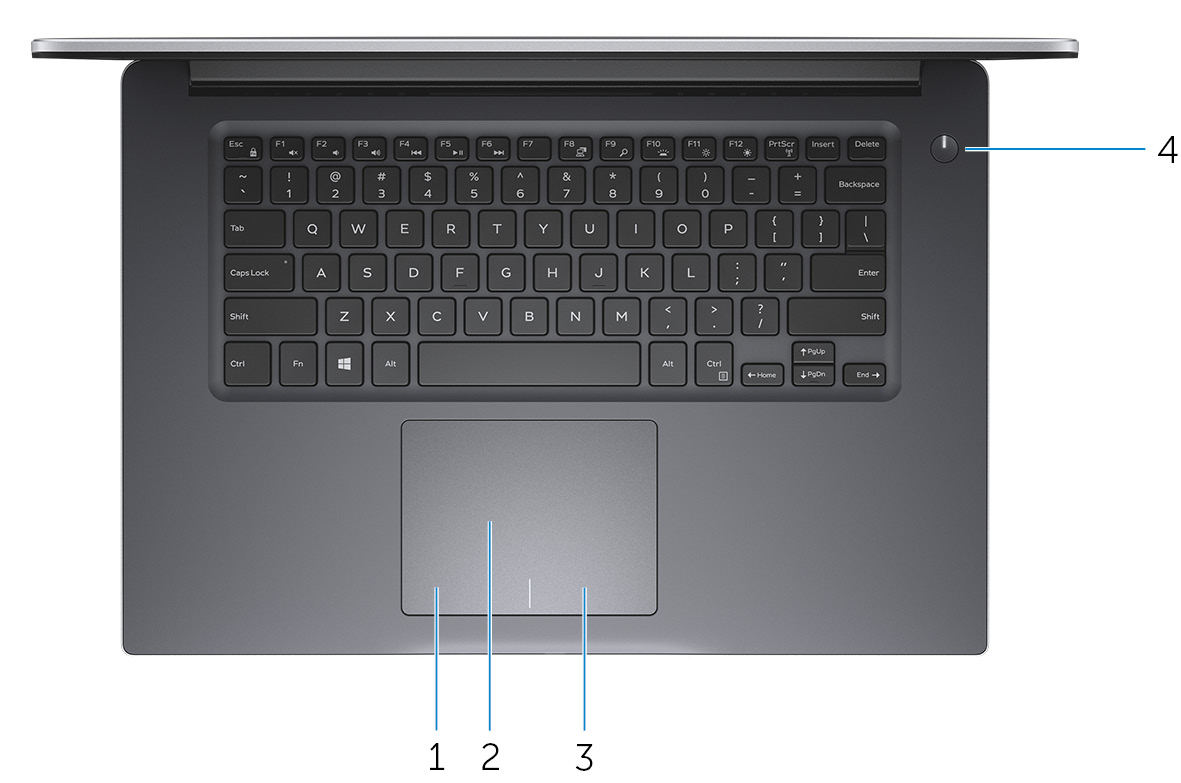 Image: Base view of Inspiron 15-7560