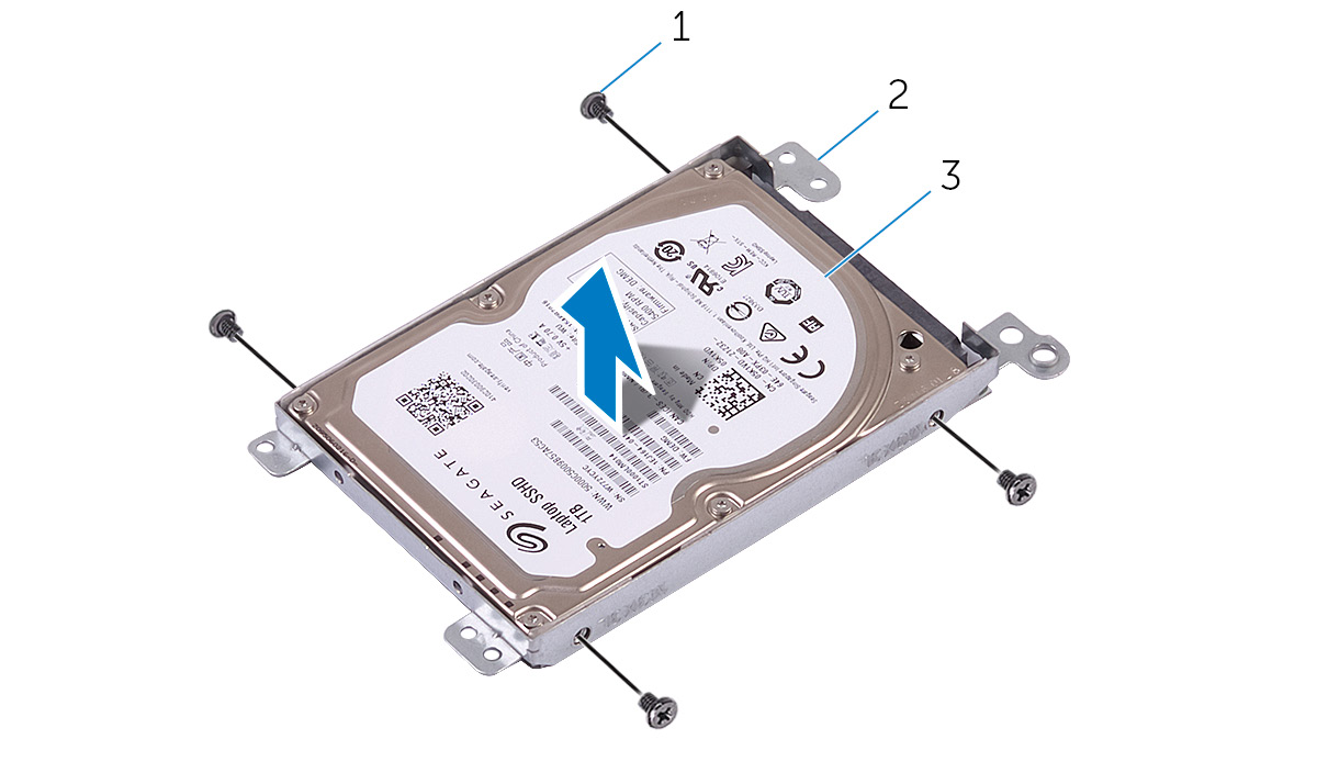 Image: Removing the hard-drive bracket