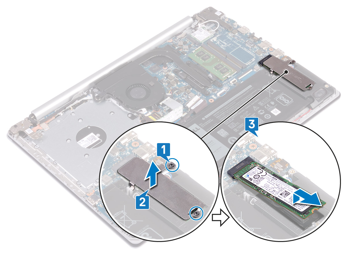 Image: Removing the solid-state drive