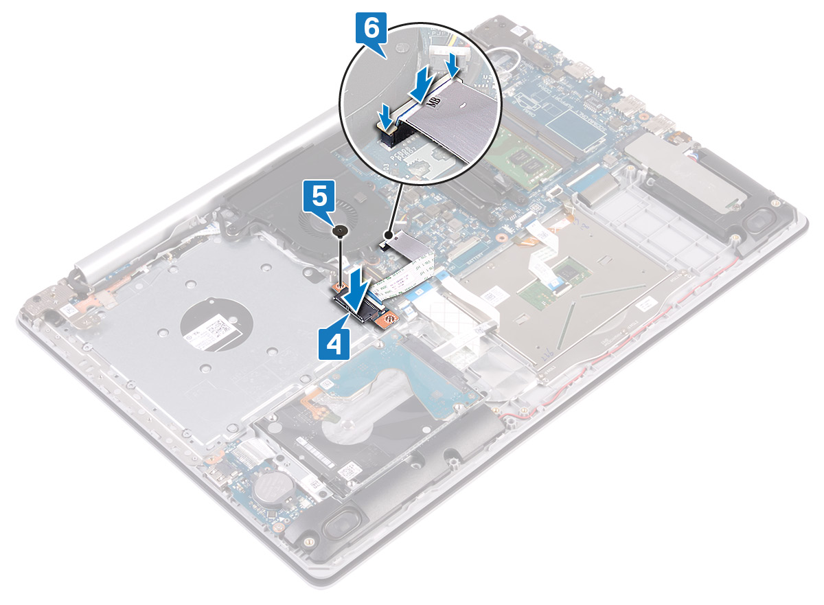 Image: Replacing optical-drive connector board