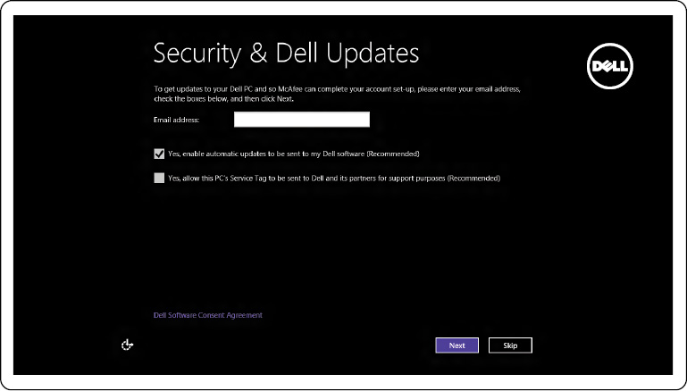 Image: Enable security and updates