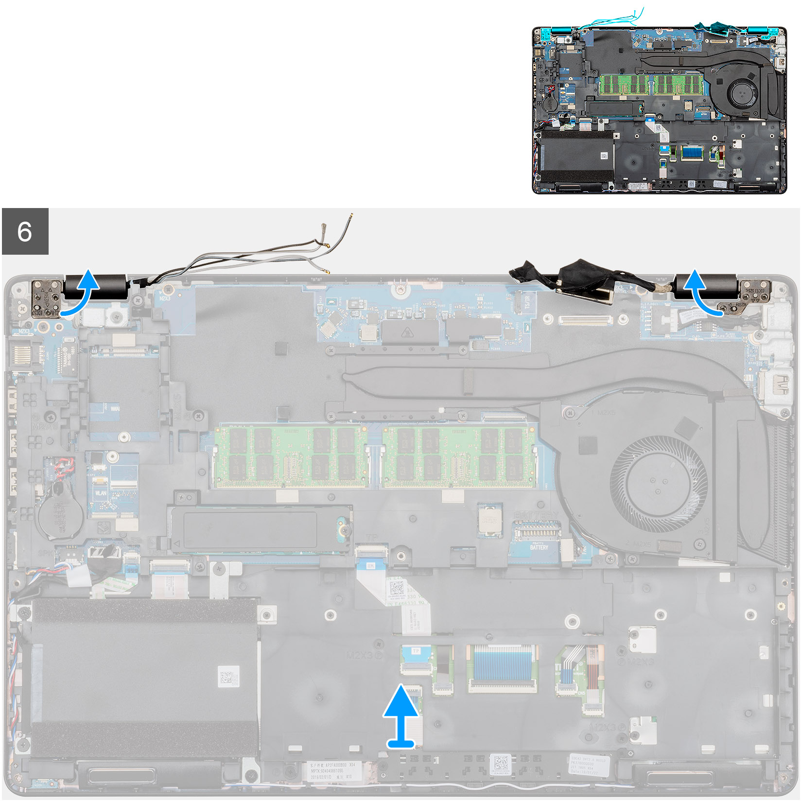 Removing the display assembly