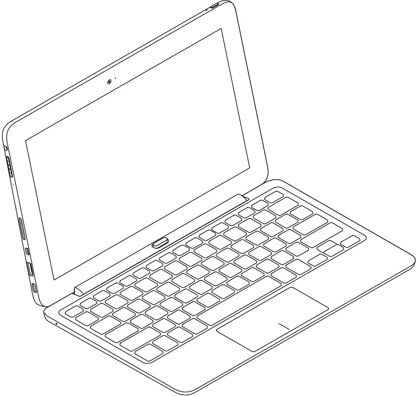 Image: Tablet connected to keyboard