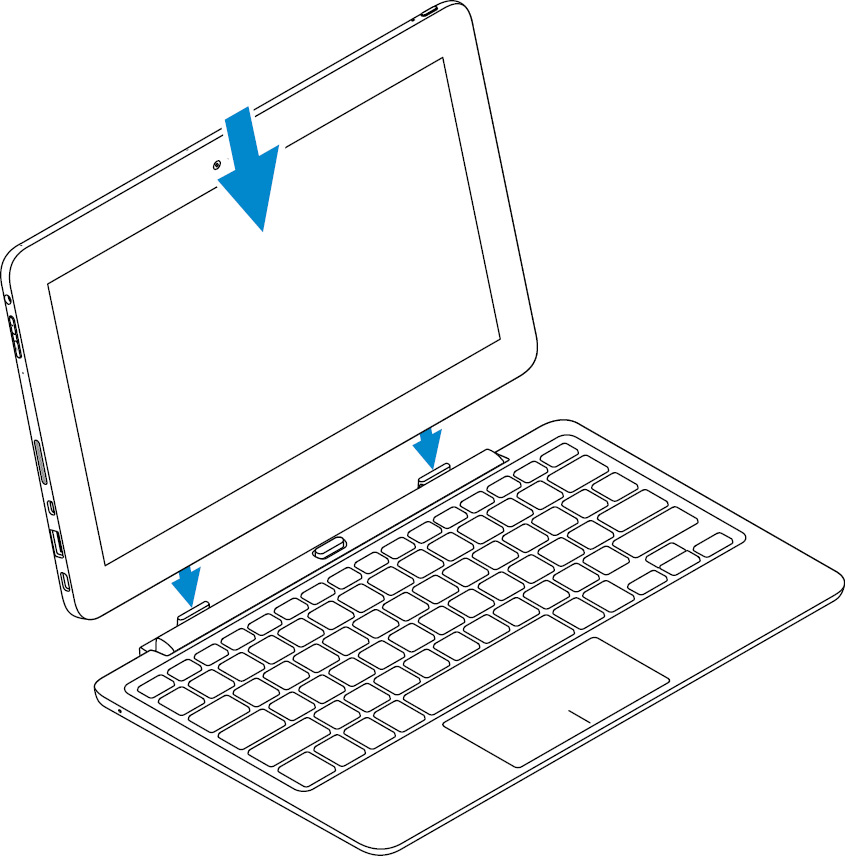 Image: Connect the tablet to the keyboard dock