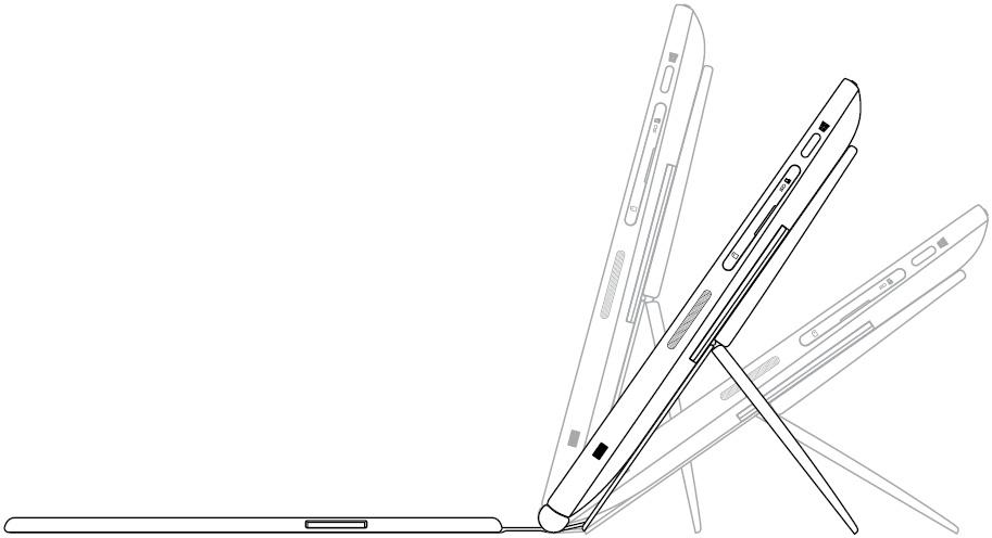 Image: Slim Keyboard tilts