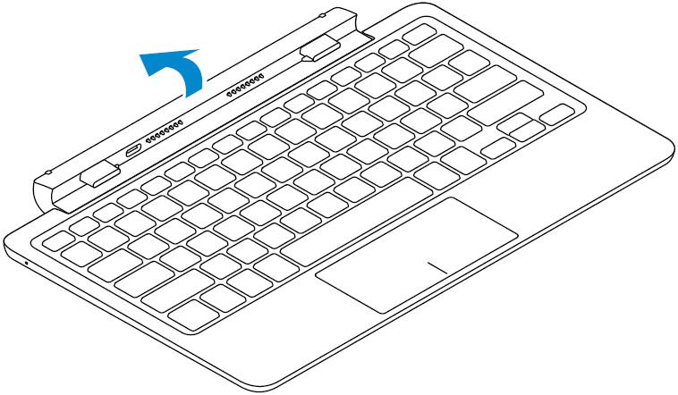 Image: Open the hinge on the keyboard dock