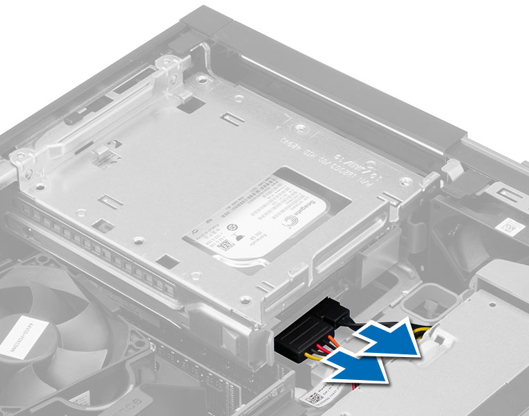 Dell optiplex 3020small form factor owners manual figure displaying disconnecting the cable to hard drive publicscrutiny Image collections