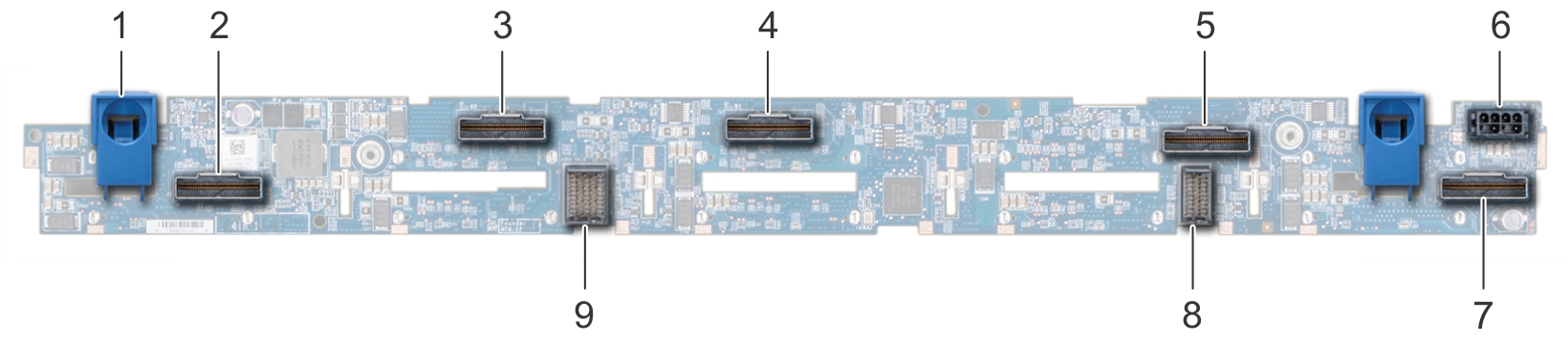 This image shows 10 X 2.5 drive backplane