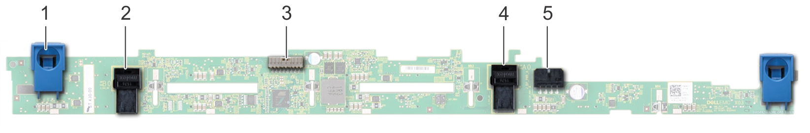 This image shows 8 X 2.5 hard drive backplane