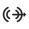 Icono del conector de línea de salida