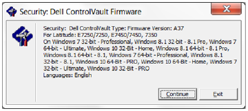 New Driver: Dell ControlVault