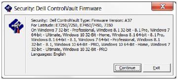 New Driver: Dell ControlVault
