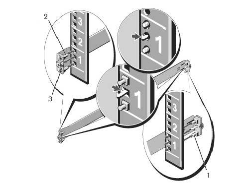 Illustration of a 1U tool-less configuration.