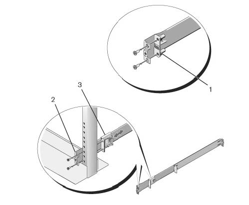Illustration of a two-post flush-mount configuration.