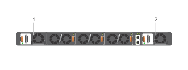 Illustration of the S4048–ON DC power supplies.