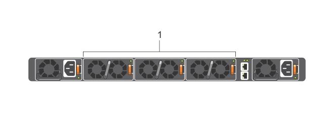 Illustration of S4048–ON fan modules.