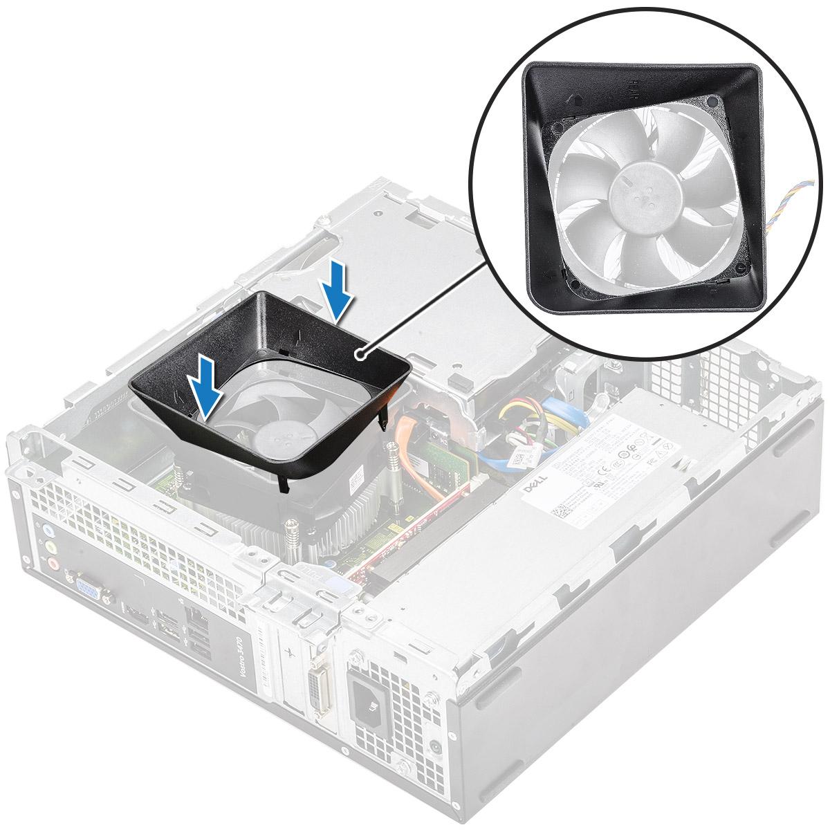 Gambar menunjukkan pemasangan selubung pendingin