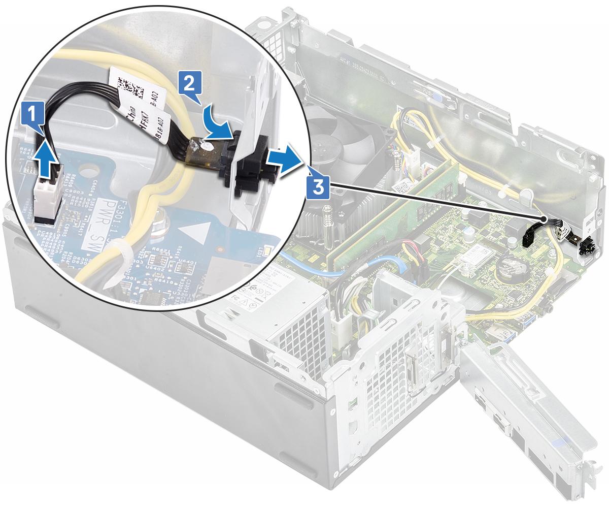 Slika prikazuje uklanjanje gumba za uključivanje/isključivanje