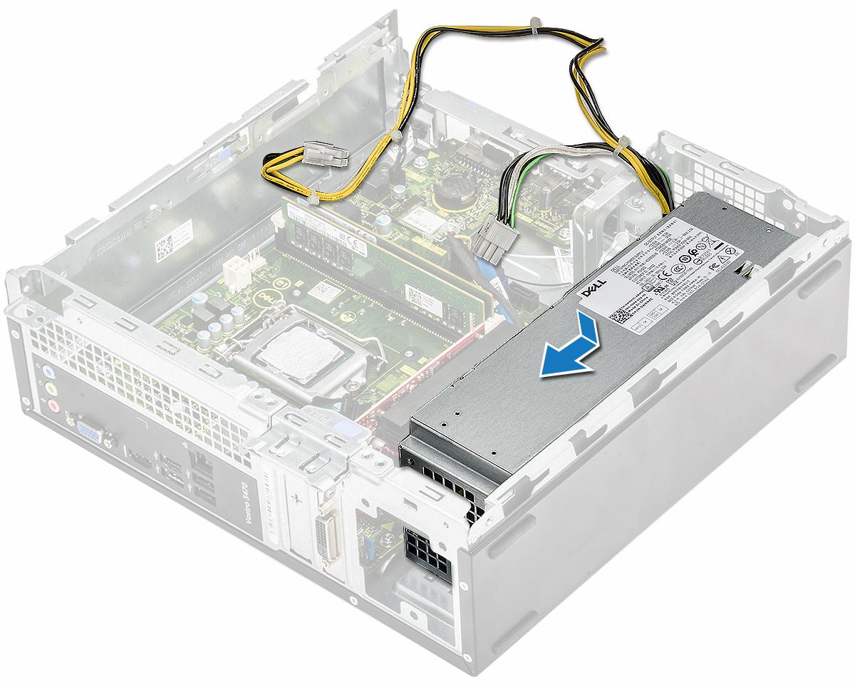 Slika prikazuje postavljanje PSU-a u sustav
