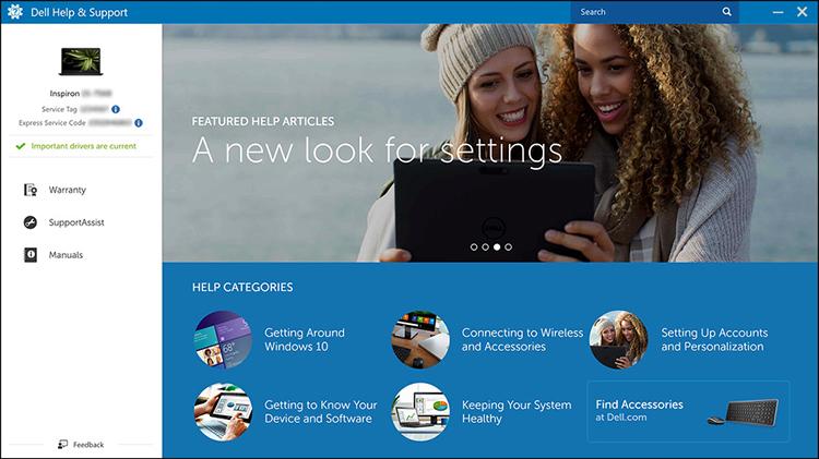 Billede: Dells Hjælp og Support