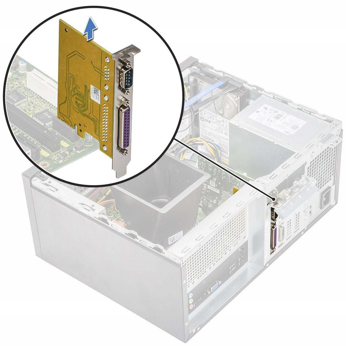 Løsne PCIe-kortet