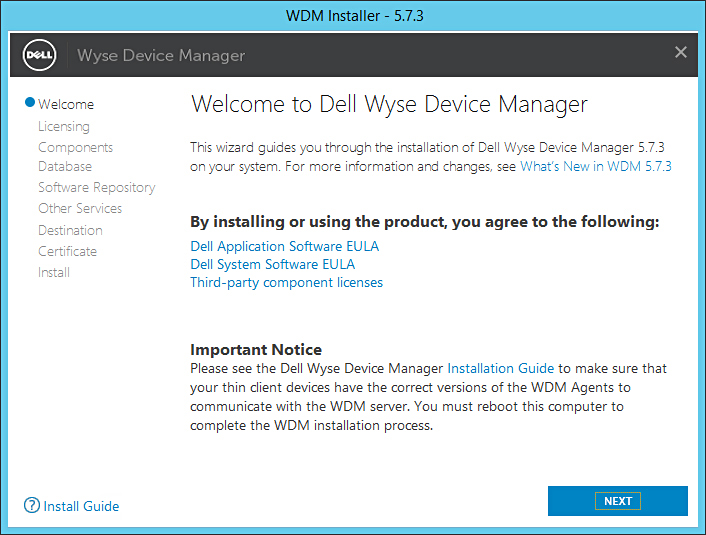 Dell Wyse Device Manager 5 7 3 Installation Guide