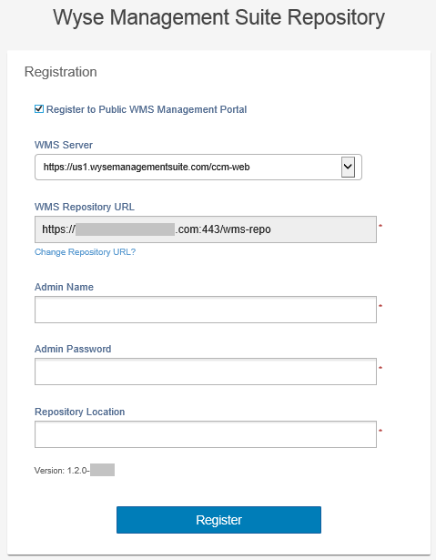 Register on a public cloud