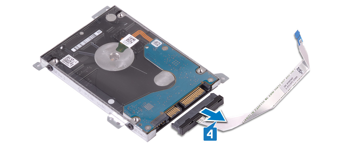 Image: Removing the hard-drive interposer