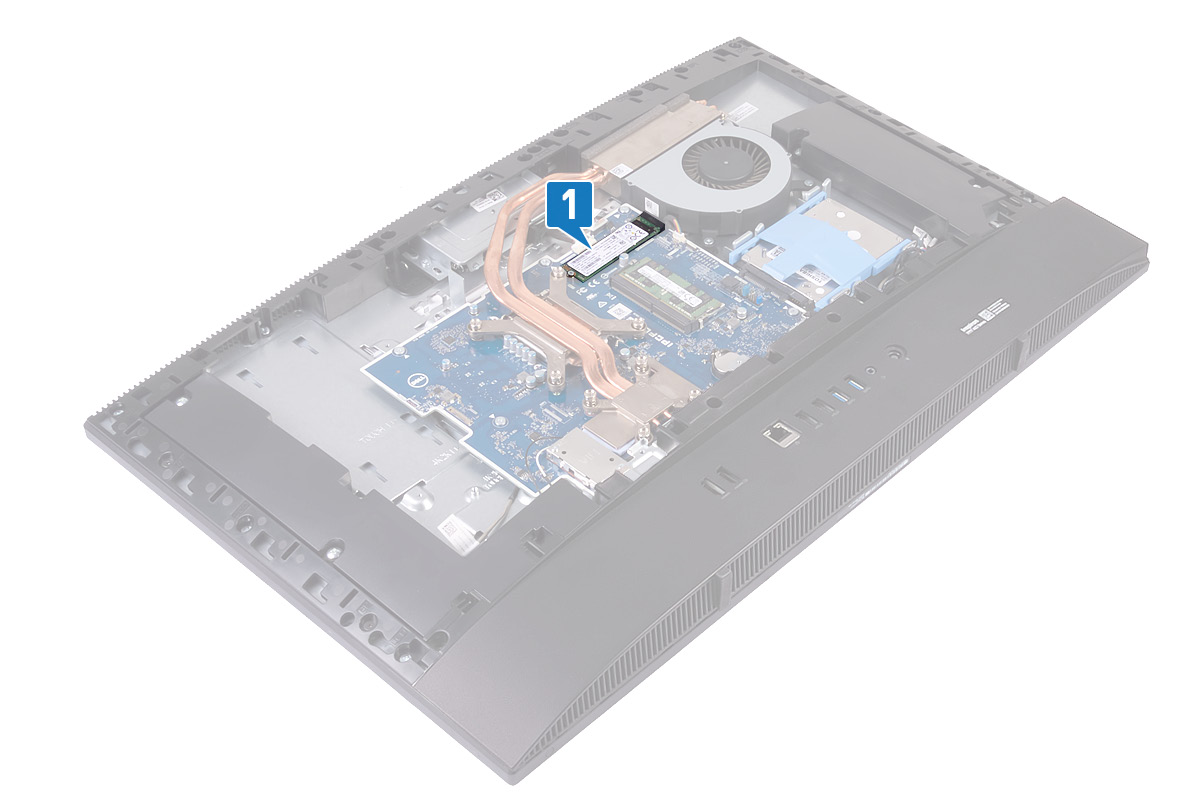 Image: Removing the solid-state drive/Intel Optane memory