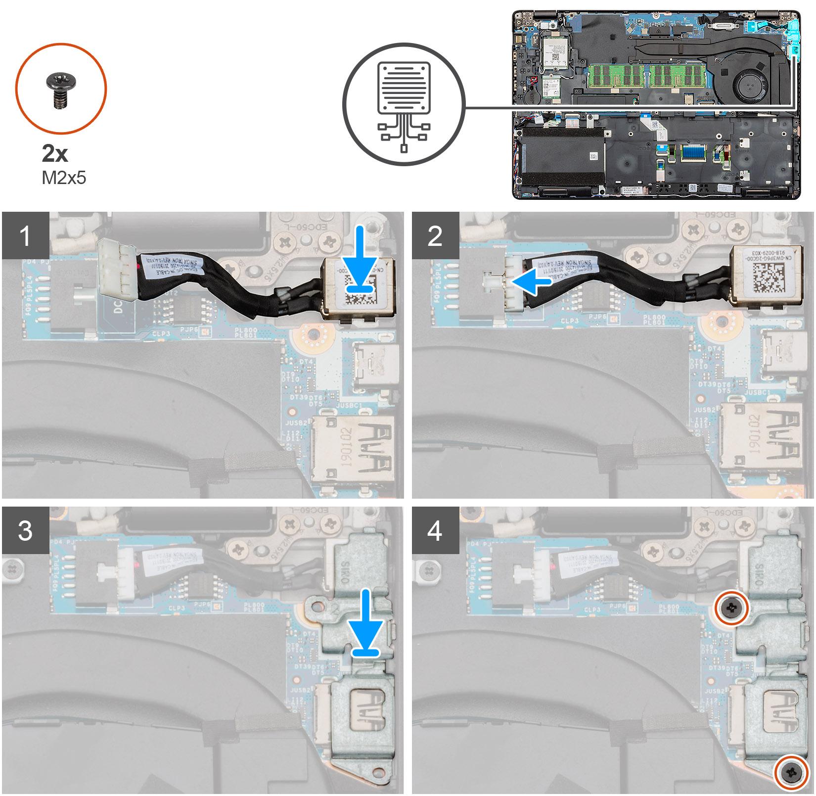 Installing the DC-in UMA