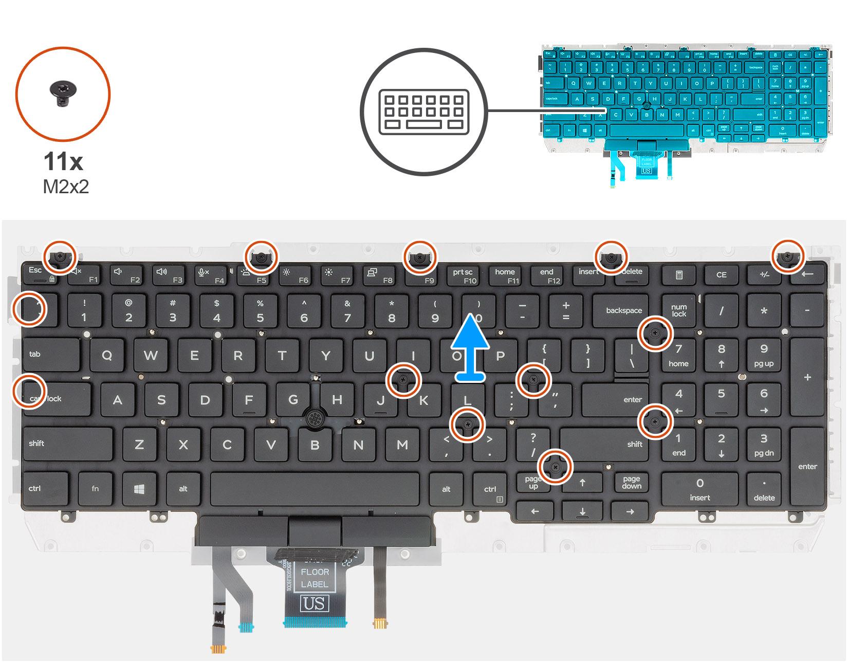 Removing the keyboard bracket