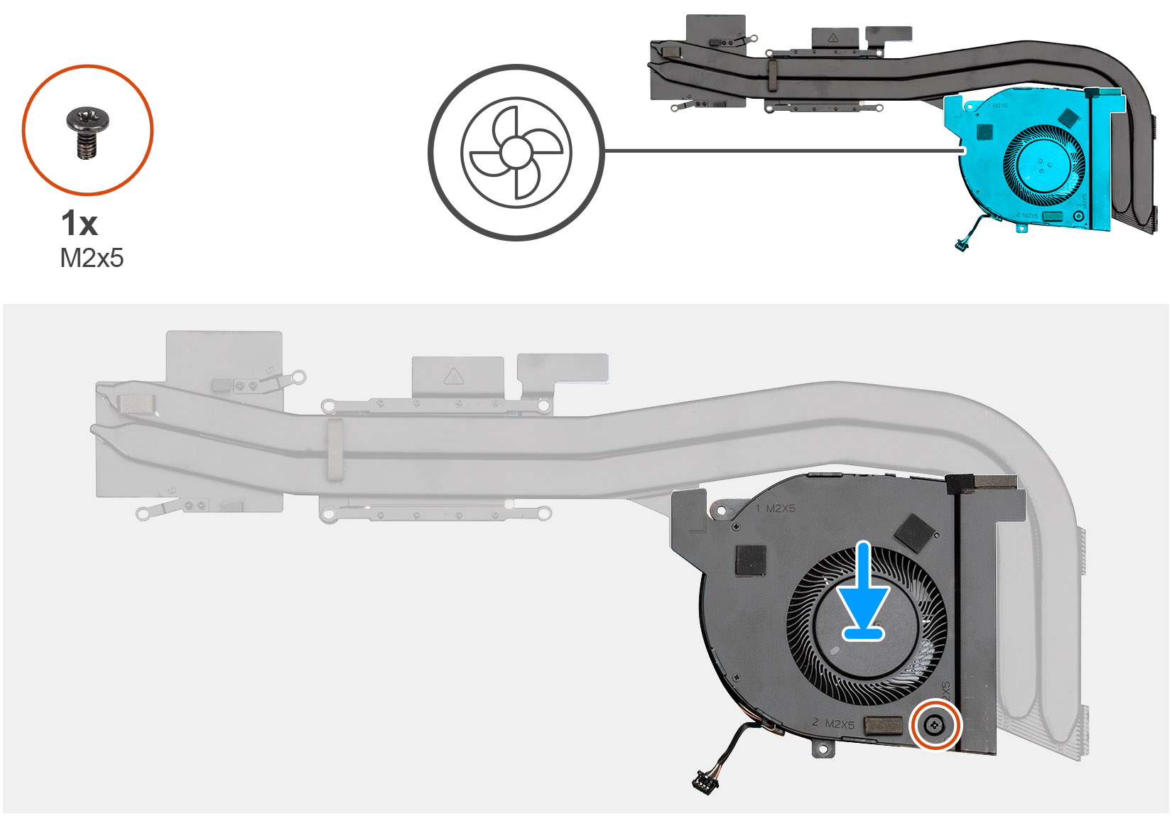 Installing the heatsink fan