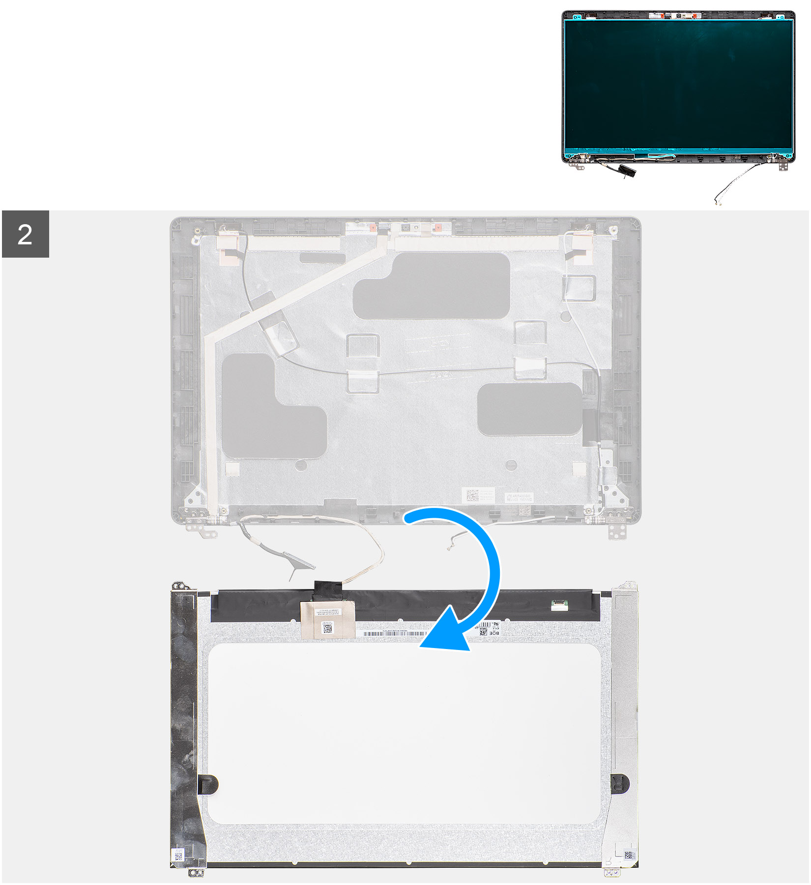 Removing the display panel