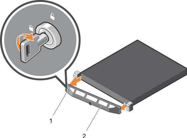 This figure shows removing the optional front bezel.