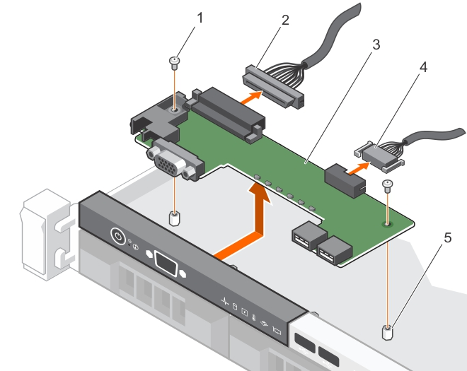 This figure shows removing the control panel board.