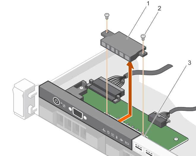This figure shows removing the LED module.