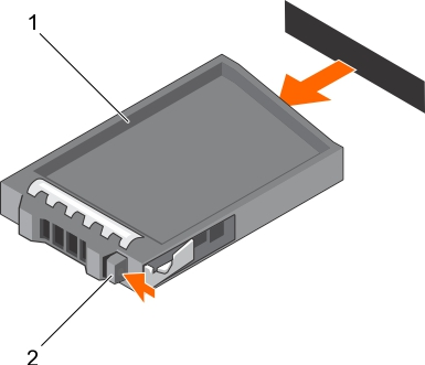 This figure shows removing 2.5-inch hard drive blank.