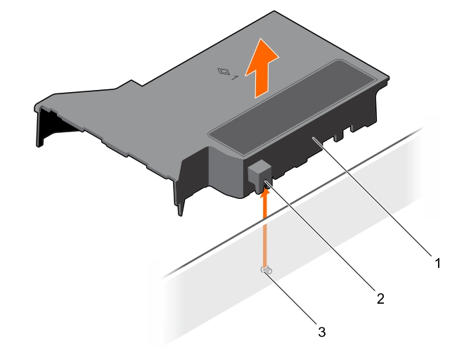 This figure shows removing the cooling shroud.