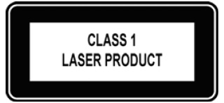 Image of the Class 1 Laser Product tag.