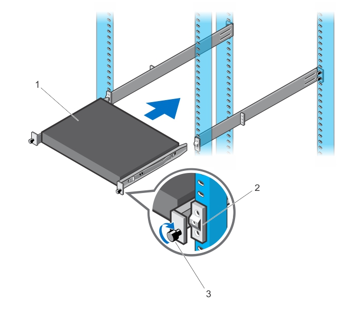 Illustration of a front rack installation.