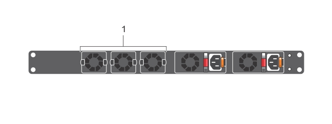 Illustration of the S3048–ON fan modules.