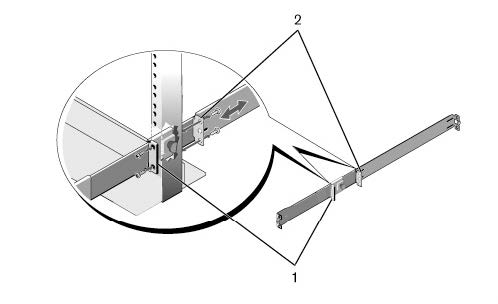 Illustration of a two-post center-mount configuration.