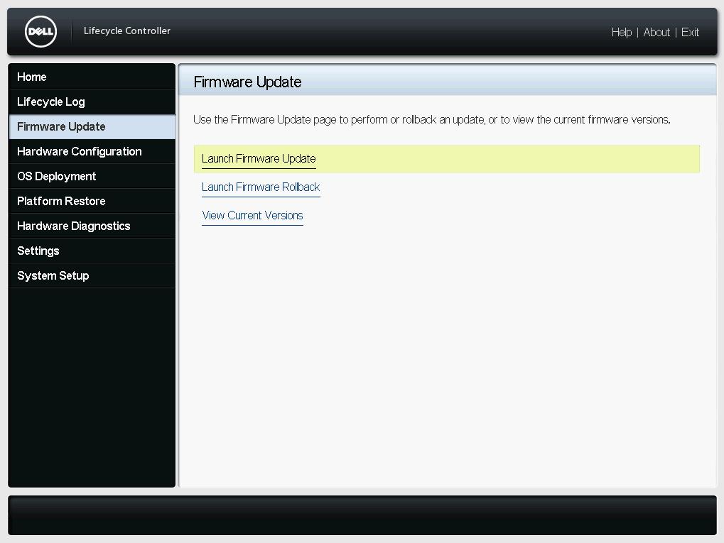 Firmware Update Dialog