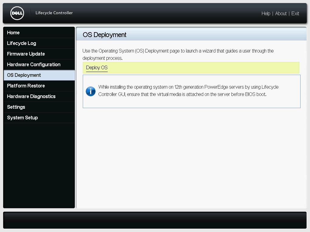 OS Deployment Dialog